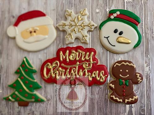 Christmas Cookie Gift Box - 6 cookies
