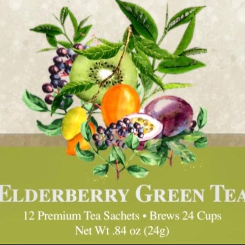 Elderberry Green Tea