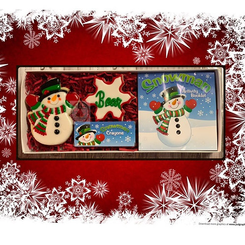 Snowman Cookie and Color box