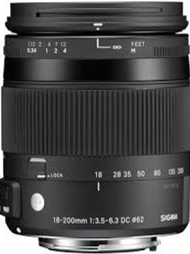 Sigma 18-200mm F3.5-6.3 DC Macro OS HSM Contemporary for Canon