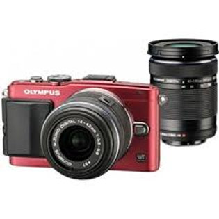 Olympus E-PL6 Twin kit 14-42mm + 40-150mm Red