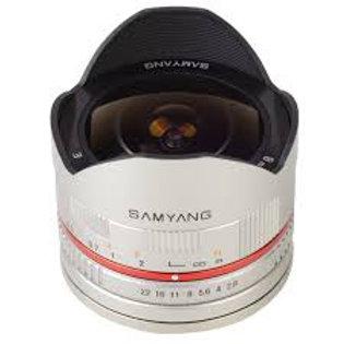Samyang 8mm f2.8 Fish-eye CS II Silver (Sony E)