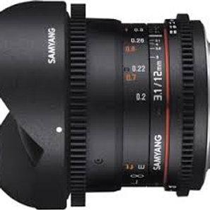Samyang 12mm T3.1 VDSLR ED AS NCS Fisheye (Sony A)