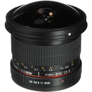 Samyang 8mm f/3.5 Fish-eye CS II with hood Fuji X