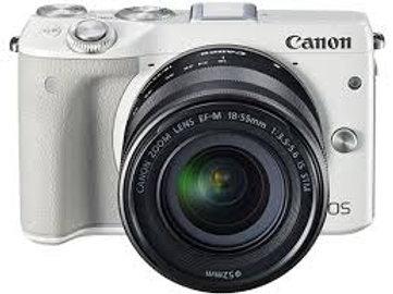 Canon EOS M3 kit 18-55mm + 55-200mm White