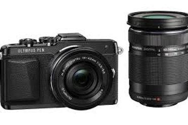 Olympus E-PL7 Twin kit 14-42mm + 40-150mm Black