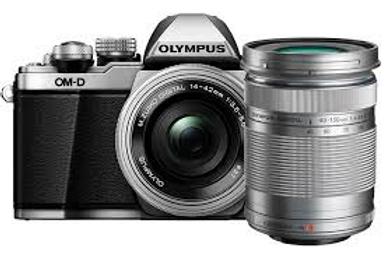 Olympus E-M10 14-42mm EZ & 40-150mm Silver
