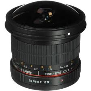 Samyang 8mm f3.5 Fish-eye CS II with hood Micro4/3