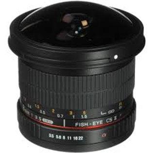 Samyang 8mm f3.5 Fish-eye CS II with hood Micro4/3