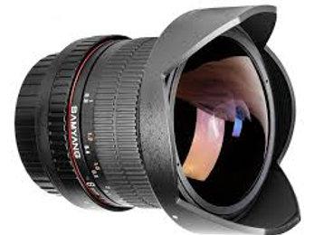Samyang 8mm f3.5 Fish-eye CS II with hood Canon