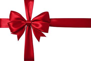 Shiny red satin ribbon on white backgrou