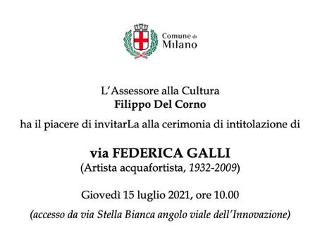 Milano intitola una via a Federica Galli