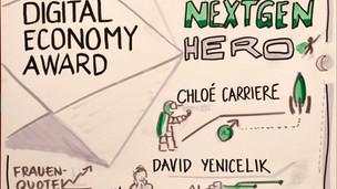 digital economy award live illustration.