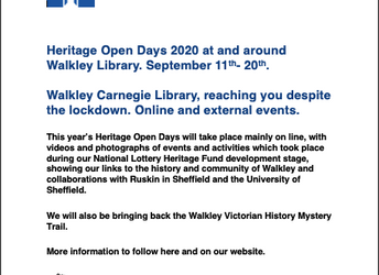 Heritage Open Days, 11-20 September 2020