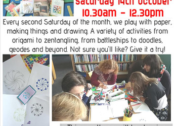 Paper Pastimes, Saturday 14 October 2017