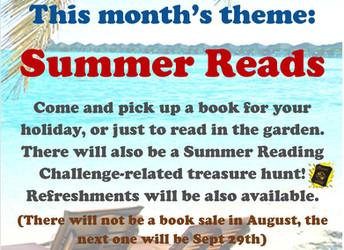 Summer book sale, Saturday 28 July 2018