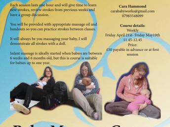 Baby massage course, 21 April 2017