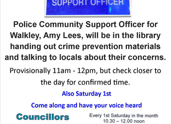Police Community Support Officer for Walkley, Saturday 1 December 2018