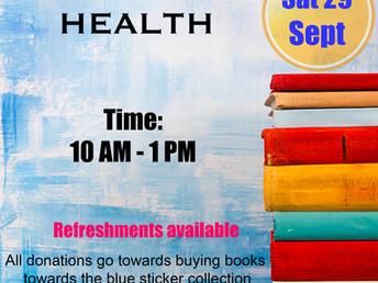 Book sale, Saturday 29 September 2018