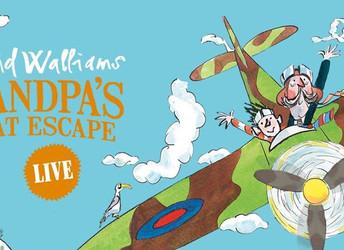 Competition to win tickets for David Walliams 'Grandpa's Great Escape Live'