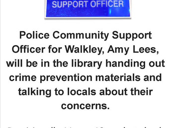 The Police Community Support Officer at the Library, Saturday 20 January 2018