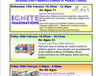 More half term activities in the library