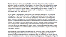 Exciting news for Walkley Library