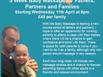 Baby massage course, 11 April-9 May 2018