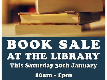 Book sale, Saturday 30 January 2016