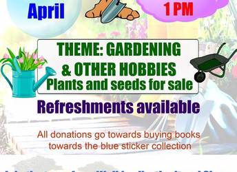Book Sale, Saturday 27 April 2019