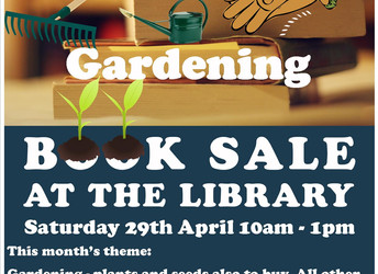 Spring book sale coming!