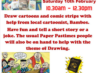 Paper Pastimes, Saturday 10 February 2018