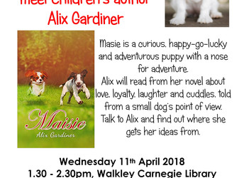 Author event: Alix Gardiner, Wednesday 11 April 2018