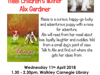 Author event: Alix Gardiner, Wednesday 11 April 2018