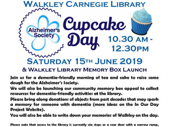 Alzheimer's Society Cupcake Day, Saturday 15 June 2019