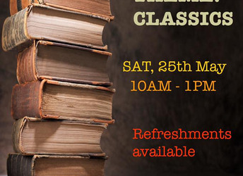Book sale, Saturday 25 May 2019