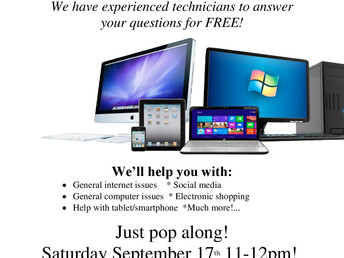 Computer Clinic at Walkley Library, Saturday 17 September 2016
