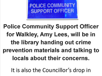 The Police Community Support Officer & the Councillor at the Library, Saturday 3 March 2018