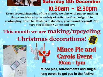 Paper Pastimes, Saturday 8 December 2018