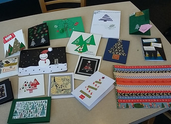 Crafting Christmas cards, Thursday 29 November 2018