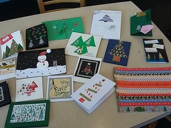Crafting Christmas cards, Thursday 29 November 2018