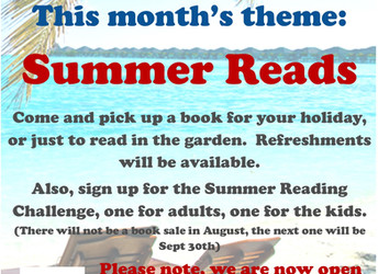 Book sale, Saturday 29 July 2017