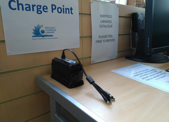 New service at the Library: charge points