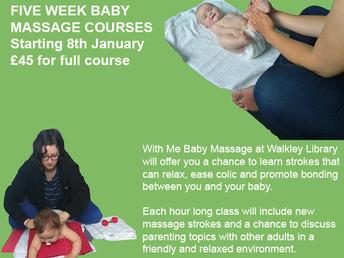 Baby massage classes, 8 January-5 February 2018