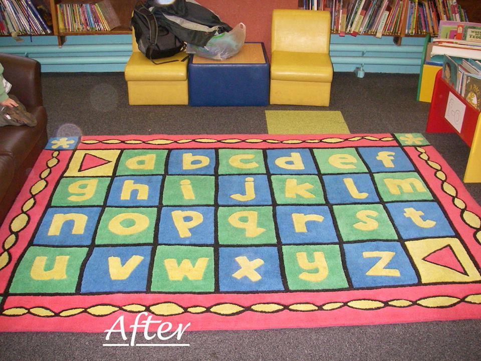 The little, plush rug