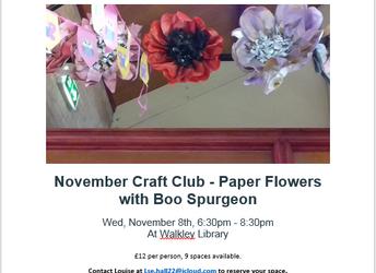 November Craft Club - Paper flowers