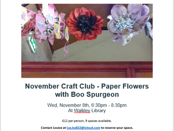 November Craft Club - Paper flowers