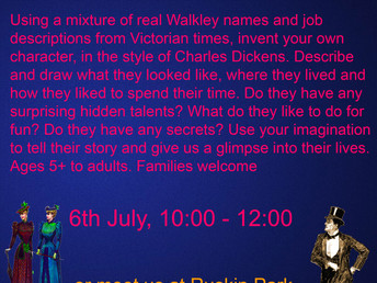 Create a Walkley Victorian, Saturday 6 July 2019