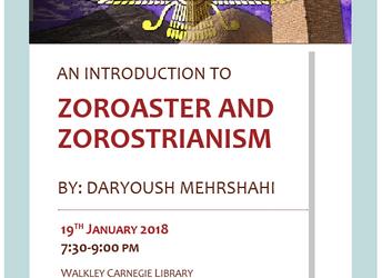 Introduction to Zoroastrianism, Friday 19 January 2018