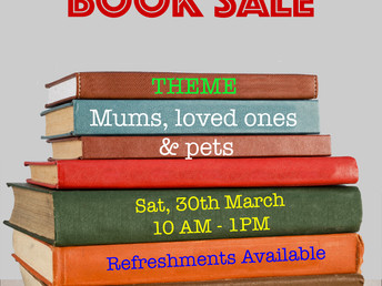 Book sale, Saturday 30 March 2019